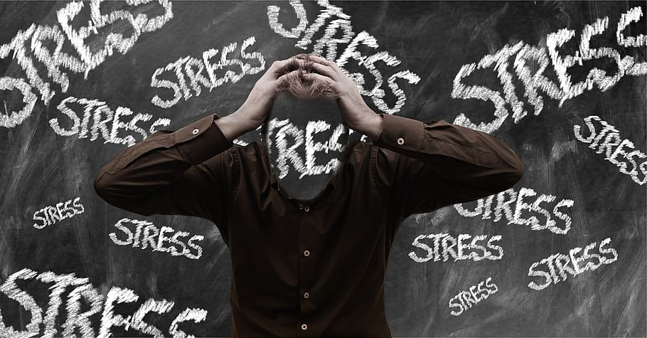 image of a stressed individual